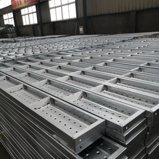 Galvanized Trapezoid Support Scaffolding Walk Boards for Construction